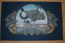 Aaron Horkey Init Fest Sioux Falls Concert Poster Print S/N Prairie Chicken 2009