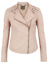 Muubaa Kaus Nude Fitted Leather Biker. RRP £389. UK 8. M0374.