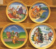 Vintage McDonalds Seasons Melamine Plastic Plate Set Of 4 Lexington 1977