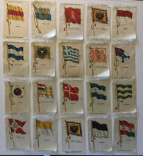 Lot Of 20 Antique Tobacco Silk Flags