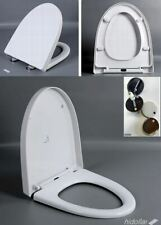 SOFT CLOSE SOFT-CLOSE TOILET SEAT WHITE HINGES QUICK RELEASE WITH HINGES V-SHAPE