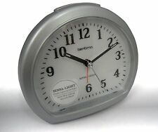 CLEARANCE NON BOXED  ACCTIM LLOYD SWEEPER  ALARM CLOCK IN SILVER (OUR REF4r)