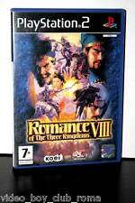 ROMANCE OF THE THREE KINGDOMS VIII USATO OTTIMO STATO PLAYSTATION2 PS2 FR1 31782