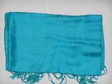 Echarpe en soie bleu/verte de1m80 de long
