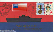 A LOVELY COVER FROM THE USA. 1991 216th ANNIVERSARY OF THE MARINES. USS TRIPOLI