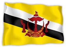 Brunei bandiera etichetta flag sticker 15cm x 11cm