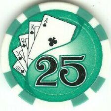4 pc 4 colors 11.5 Royal Flush Twist poker chip samples set #49