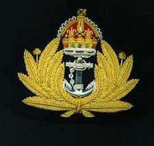 British Navy  Officer Cap Badge WW1 & 2