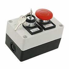 Key Lock on/off Switch Red Mushroom Push Button Station ED