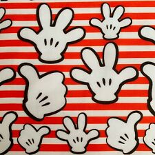 FQ DISNEY MICKEY MOUSE HANDS STRIPE CHILDRENS CHARACTER FABRIC