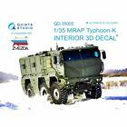 "Quinta QD35005 Interior 3D decal set KamAZ-63968 ""Typhoon-K"" Zvezda 3701 1/35"