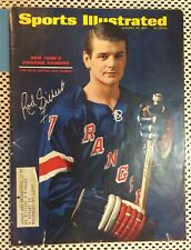 ROD GILBERT New York Rangers Signed Autographed Sports Illustrated 1967 JAN