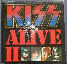 PETER CRISS Signed KISS LP ALIVE II Double LP Vinyl Record Autographed Auto