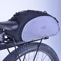 13L Storage Bicycle Bike Bag Rear Back Pannier Cycling Handbag Luggage Pack
