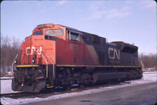 CANADIAN NATIONAL RAILROAD SD70M-2 8013 ORIGINAL SLIDE