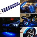 5Pcs 15 LED 12V 30cm Car Motor Vehicle Flexible Waterproof Strip Light Blue New