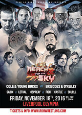 "Officiel de roh ring of honor ""reach for the sky tour: liverpool"" royaume-uni affiche A2"