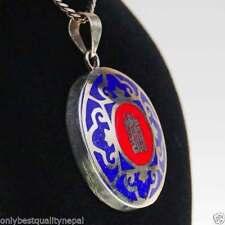 Collane e pendagli di lusso con gemme blu in ottone
