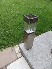 @NEU@ Solar-Gartenwegeleuchte Wegelicht Solar-Lampe Wegleuchte Edelstahl 39,5cm