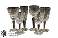 Lot of 6 Assorted Waterford Crystal Wine Glasses Goblets Champagne Flute Martini