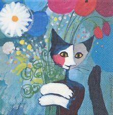 4 Servietten - Rosina Wachtmeister - For you - Katze - cat