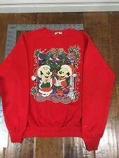 Disney Mickey Minnie Christmas Caroling sweater girls lg - Watch for price drops