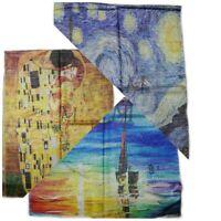 Foulard Klimt Van Gogh maxi foulard pasmina viscosa e seta stola turbante arte