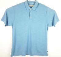 Tommy Bahama Mens XL Short Sleeve Golf Polo Shirt Blue Marlin Embroidered Check