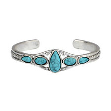1 Pcs Retro Fashion Lady Bracelet Turquoise Bead Adjustable Bangle Jewelry