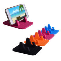 Silicone Car Anti Slip Bracket Desktop Stand Mat Holder For Moible Phone GPS Hot