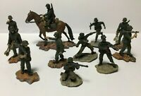 11 Miniature WWII German Soldiers 10 Foot & 1 Mounted