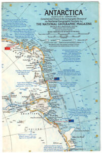 1963 Antarctica National Geographic Map
