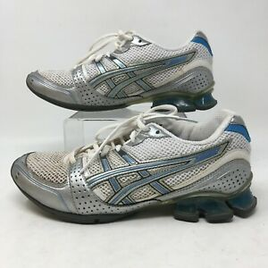 Asics Gel-Enthrall Womens Cross Training Shoes Athletic Sneakers White Blue 7 38