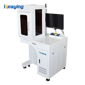 30W Enclosed Cover Fiber Laser Marking Machine Metal&Nonmetal Engraving With PC