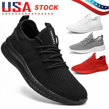 Men's Running Shoes Lightweight Breathable Casual Tennis Sports Gym Sneakers US