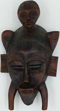 Vintage Wooden Hand Carved African Tribal Aboriginal Mask Hanging