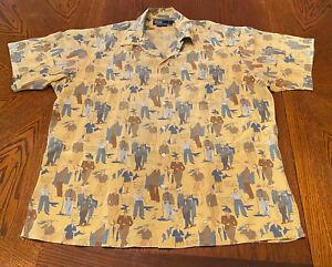 Polo Ralph Lauren Camp Collar Hawaiian Aloha Rayon Vintage Shirt, size XL