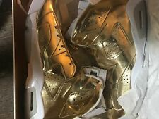 Nike Air Jordan VI 6 Retro P1NNACLE PINNACLE METALLIC GOLD WHITE size 16