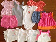 Carter's Infant Toddler Girls 11-piece LOT of Summer Clothes - 18 Months - EUC