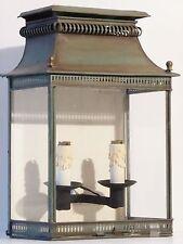 SUPERBE APPLIQUE LAMPE BOUILLOTTE GEANTE TOLE & VERRE 19EME ELECTRIFIEE VINTAGE