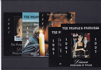 The Peoples Princess Diana 1961-1997 mint never hinged stamps sheets ref R 18