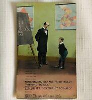 Antique Humorous Comic Postcard - Corporal Punishment - 1912