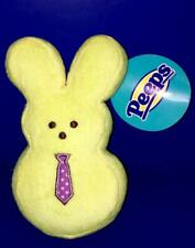 Nwt Peeps Just Born Yellow Plush Easter Bunny with Tie squeaker Pet Dog Toy