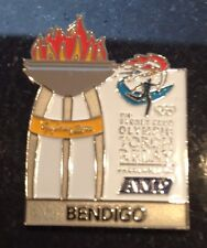 BENDIGO Sydney 2000 Olympic Torch Relay AMP sponsor pin