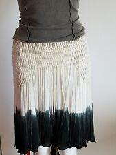 NWT $395 Haute Hippie Women's Dip Dye Knee Fringe Ombre High-low Silk Skirt