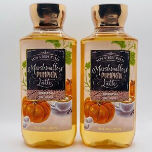 2 Bottles Bath & Body Works Marshmallow Pumpkin Latte Shower Gel 10 fl.oz