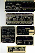 Vintage Willys Military Jeep M38A1 G758 Data Plate Set