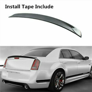 Metallic Fleck Black Rear Spoiler Wing Lip Fit For CHRYSLER 300 300C 300S 11-19