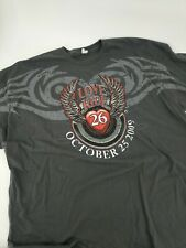 Love Ride 26 October 25 2009 long sleeve t-shirt XL men's 3XL