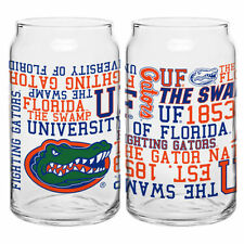 (1) Florida Gators 16oz NCAA Fan Spirit Grafitti Drinking Glass Can